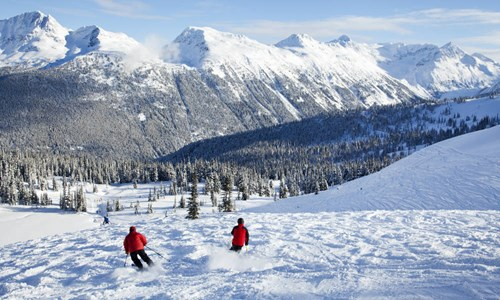 Skiing in Whistler Blackcomb in Canada