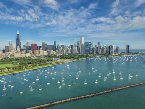 Aerial view of Chicago, USA
