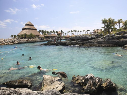 The incredible Xcaret Aquatic Park in Riviera Maya in Mexico